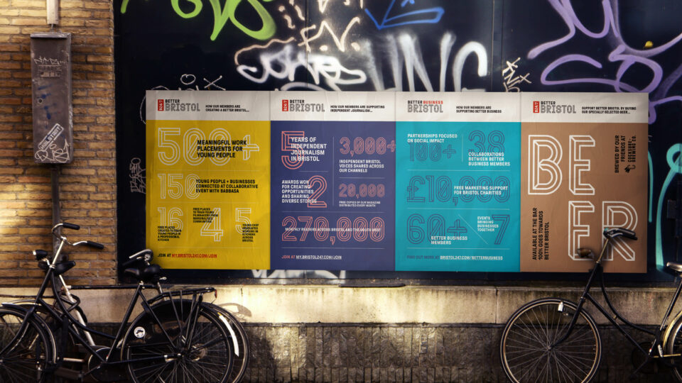 Better Bristol Posters by Workbrands