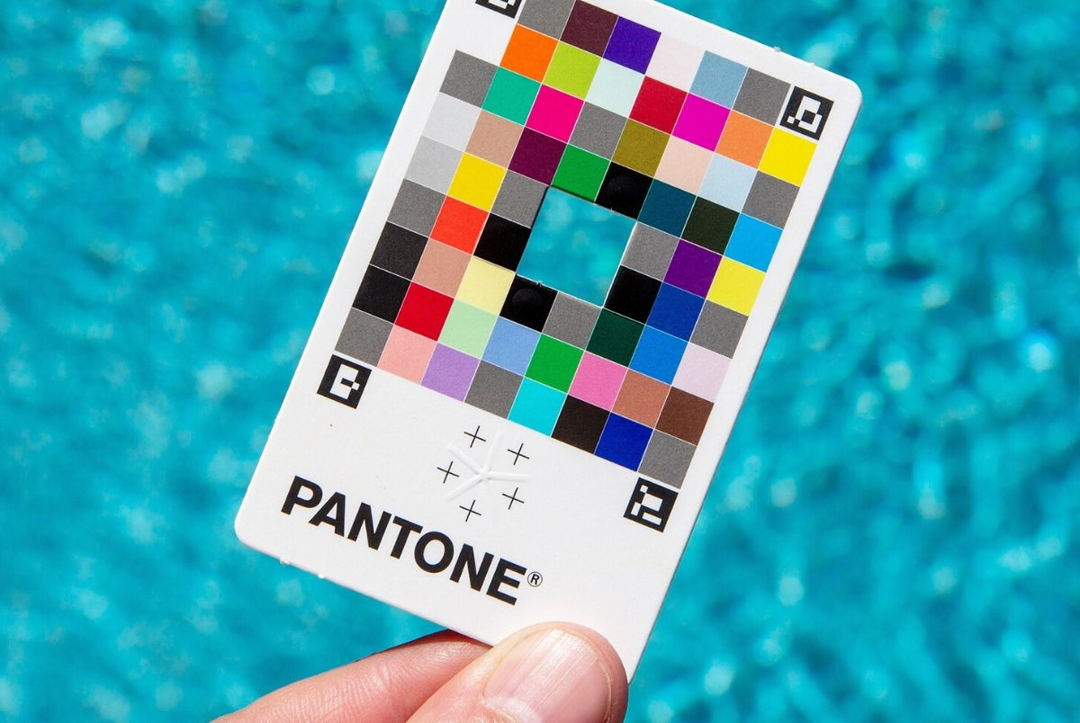 Pantone's new product, the colour match card