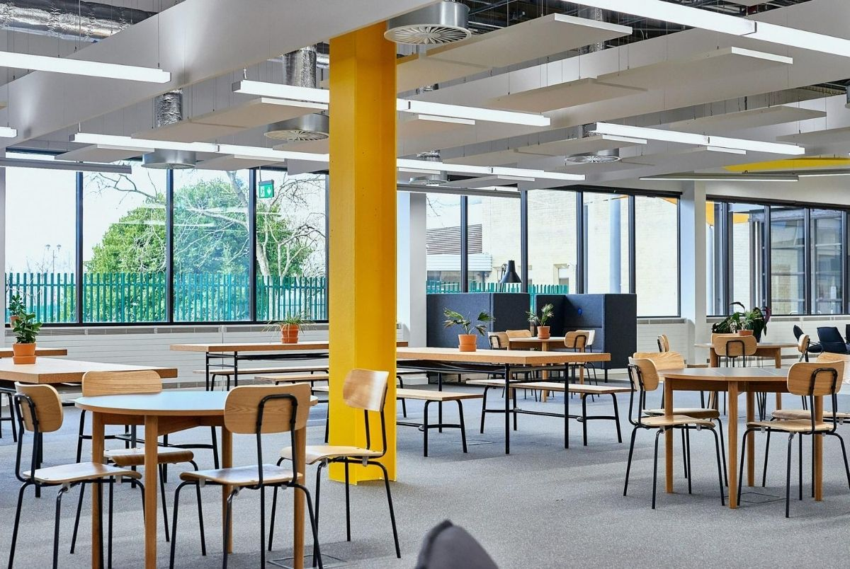Image of table and chairs in FutureSpace at UWE Bristol