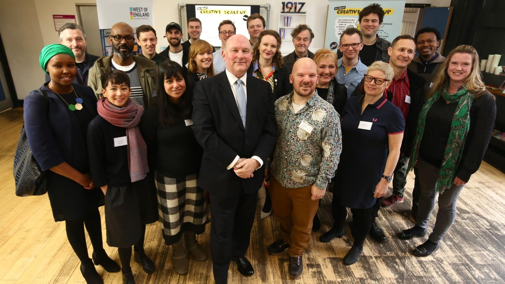 Image of group of people who have benefitted from the creative scale-up programme